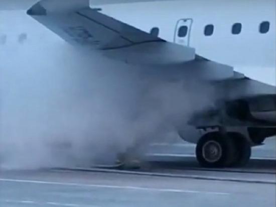 Самолёт Хабаровск-Магадан загорелся в аэропорту
