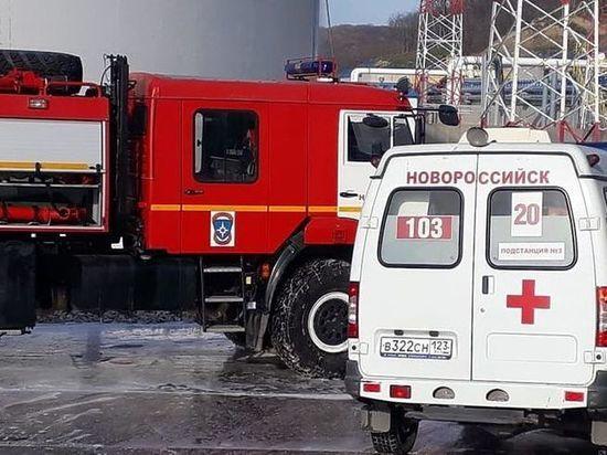 Один из пострадавших во время пожара на новороссийской нефтебазе скончался