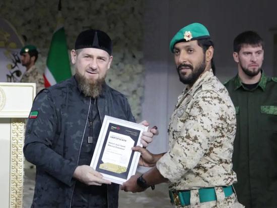 В Чечне на базе РУС подготовили первую группу спецназовцев из Бахрейна