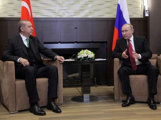 Путин и Эрдоган обсудили стабилизацию обстановки в Сирии