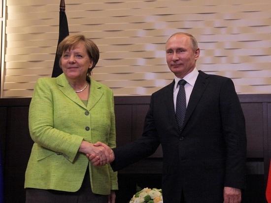 Путин и Меркель обсудили Украину и Сирию