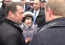 Пенсионерка из алтайского села Санниково Татьяна Кадукина прославилась, упав перед премьером Медведевым на колени