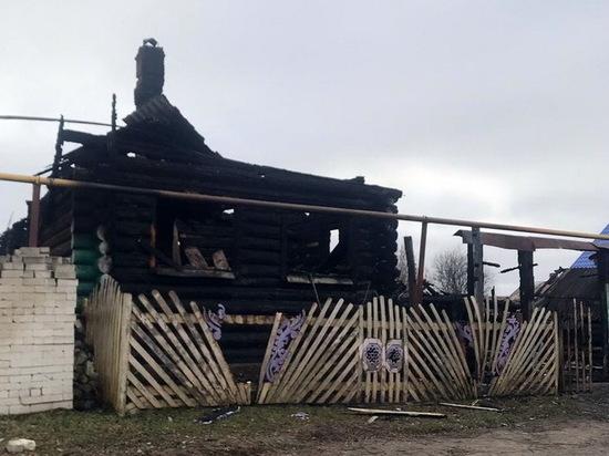 В Звениговском районе Марий Эл сгорел частный дом