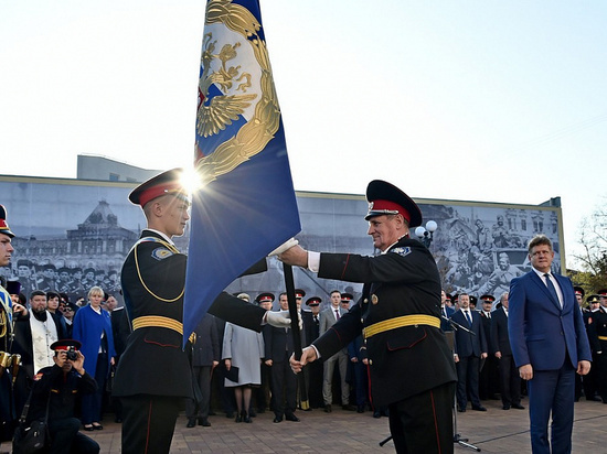 Президентское переходящее знамя вручили новороссийскому казачьему кадетскому корпусу