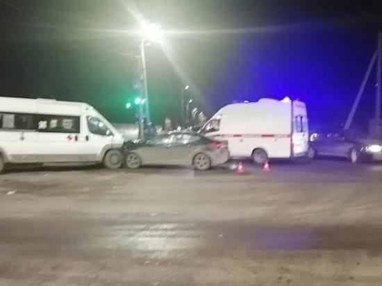В Иванове произошло ДТП, в котором пострадали семь человек