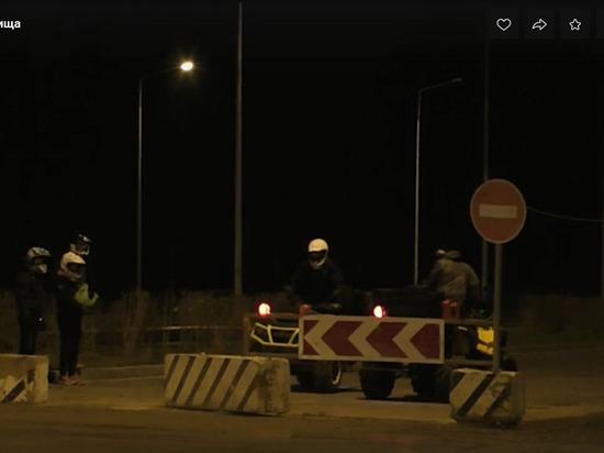 В Обнинске байкеры пытались самовольно убрать роковые бетонные блоки