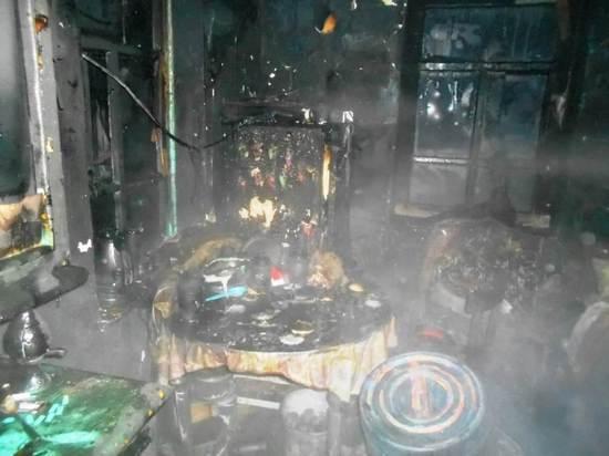 Три человека стали жертвами пожара в Кыре