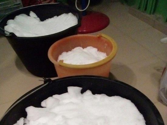 Остались без воды: жители Лабытнанги топят снег для бытовых нужд. Фото