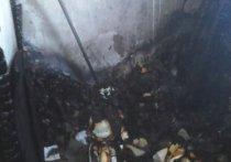 14 человек спасли пожарные из горящего дома в Ново-Ленино