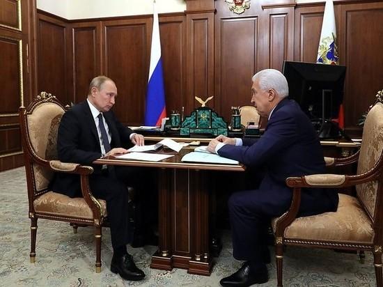 Владимир Путин встретился с главой Дагестана