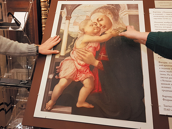 Выставка картины Боттичелли сопровождается в Эрмитаже тактильной копией