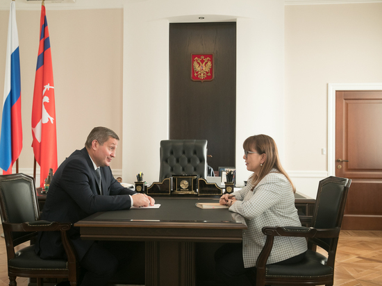 Губернатор обсудил с Татьяной Гензе работу по совместным проектам