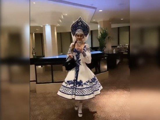 Жительница Азова представила свой костюм, в котором она выступит на конкурсе «Мисс мира»