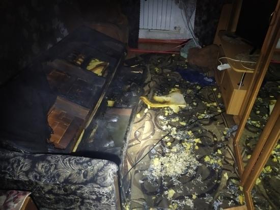 В Смоленске на Маршала Соколовского ночью горела квартира