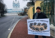 Жители Шушар шестой день пикетируют у Смольного
