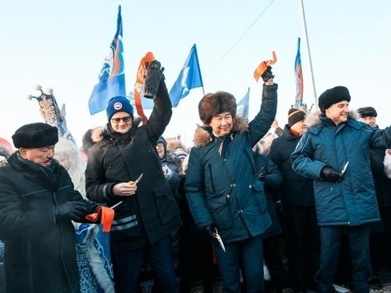 В Якутии официально открыли новый мост через реку Марха