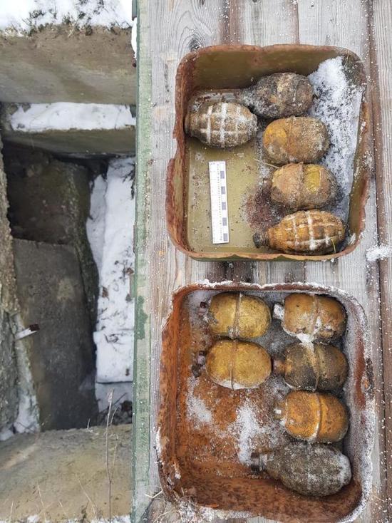 Под Верхней Пышмой нашли схрон с гранатами