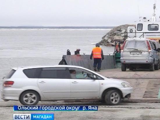Паром в Магаданской области может оказаться зажат во льдах