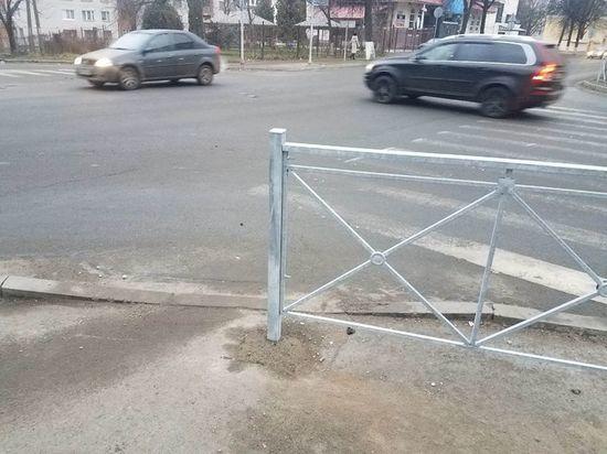 Псковичи о пешеходных ограждениях: