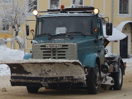 На борьбу со снегом на улицы Костромы вышло 30 единиц техники