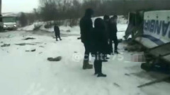 В Забайкальском крае полный пассажиров автобус рухнул с моста