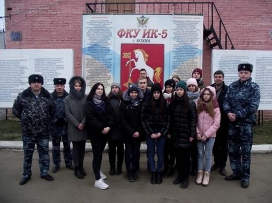 На базе ИК №5 студенты, обучающиеся в юридическом колледже в Иванове, получили практические знания о работе пенитенциарной системы
