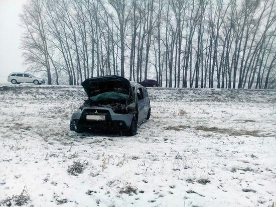 В Башкирии иномарка опрокинулась в кювет – погибла супруга водителя