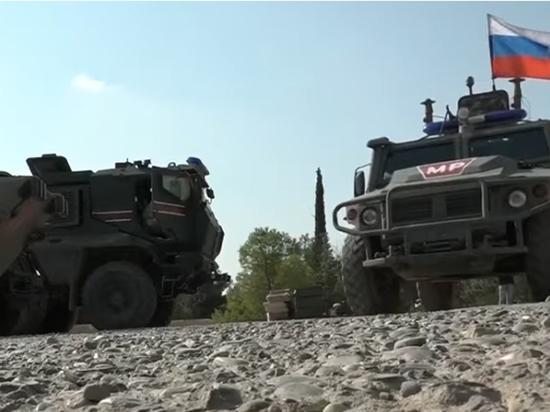 Российские военные подорвались в Сирии на мине