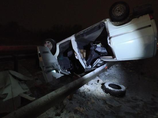 Volkswagen опрокинулся в Чебоксарском районе, пострадали четверо