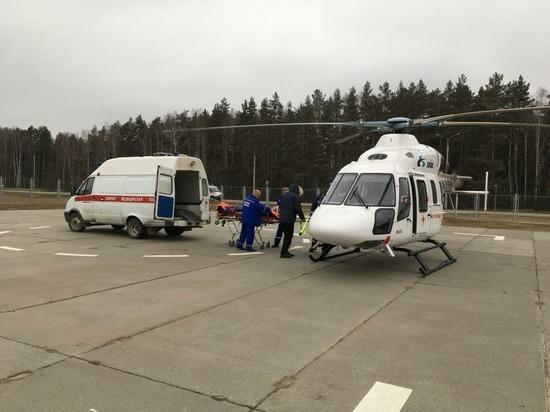 Вертолет санавиации эвакуировал подростка из Выксы в Нижний