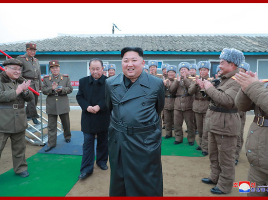 Лидер КНДР посетил церемонию завершения крупнейшей стройки в Самчжиёне