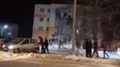 Появилось видео с места взрыва дома в Белгородской области
