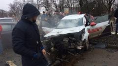 Массовую аварию на Выборгском шоссе заснял регистратор