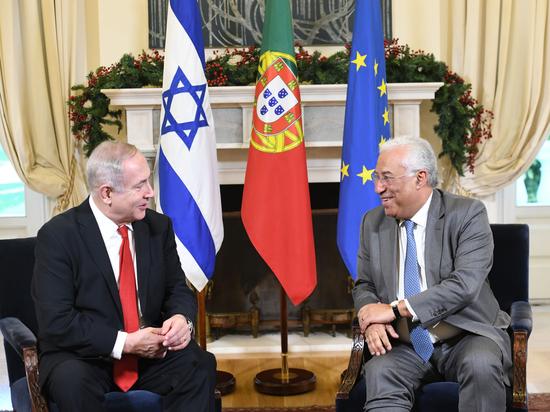 Премьер-министр Биньямин Нетаниягу встретился в Лиссабоне с премьер-министром и главой МИД Португалии