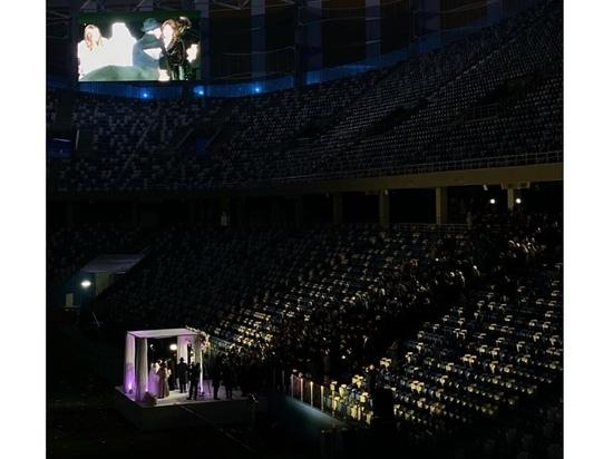Еврейская свадьба прошла на стадионе в Нижнем Новгороде