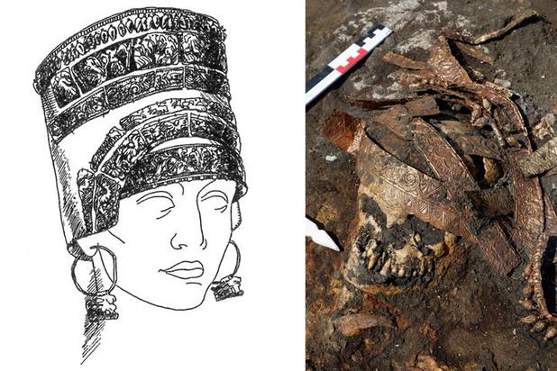 В России нашли уникальную могилу амазонки в золоте