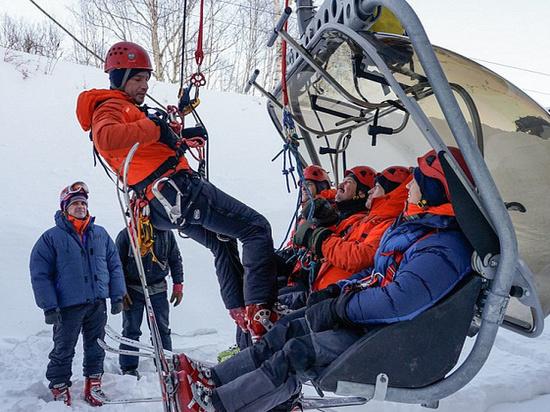 Камчатские спасатели провели тренировку на Морозной