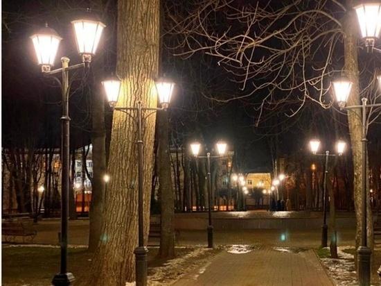 В парке Блонье в Смоленске обновили уличные светильники