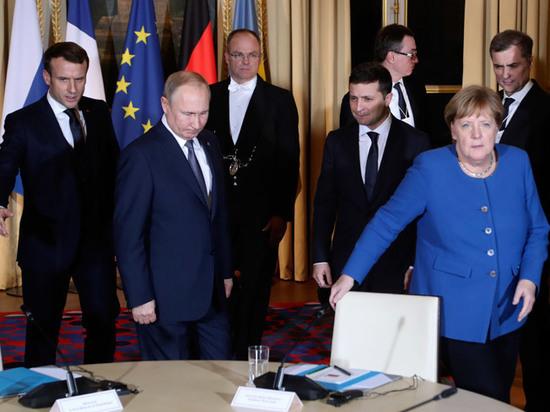 Зеленский на саммите «нормандской четверки» едва не уселся на место Путина