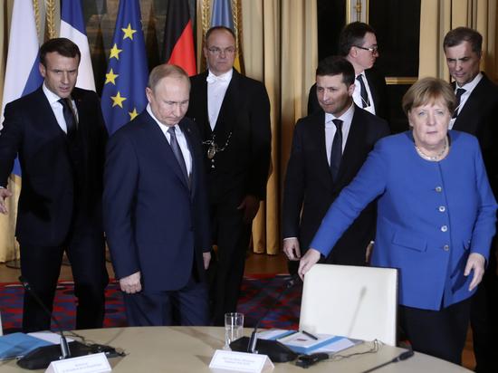 Зеленский оконфузился перед Путиным в Париже