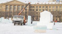 Как готовят главную площадь в Хабаровске к Новому 2020 году