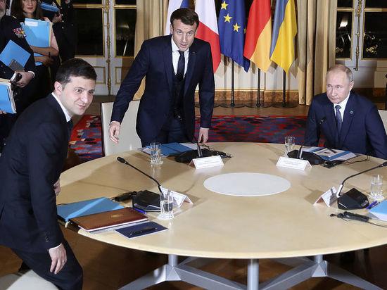 В Елисейском дворце озвучили подробности беседы Путина и Зеленского