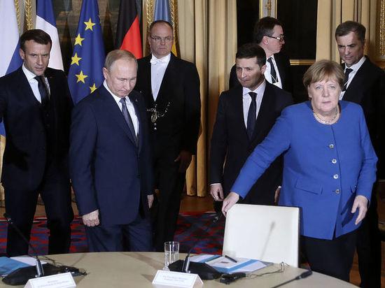 """Меркель: """"победителем"""" """"нормандского саммита"""" в Париже стал Путин"""