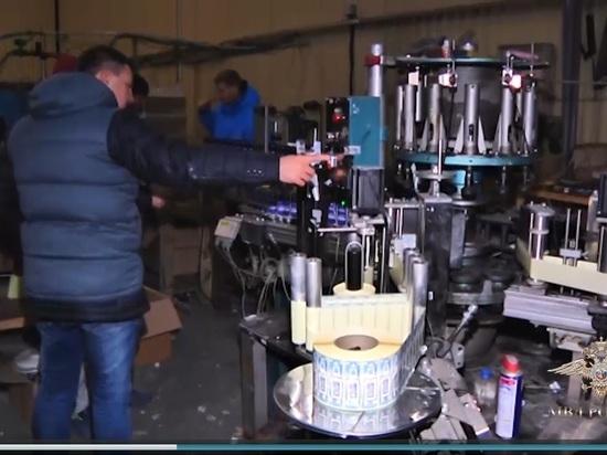 Цех с фальсифицированным алкоголем прикрыли в Боровском районе