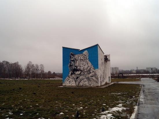 Снежный барс появился в Йошкар-Оле по инициативе РГО
