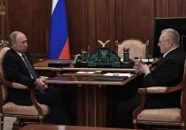 Путин встретился в Кремле с Жириновским по случаю 30-летия ЛДПР