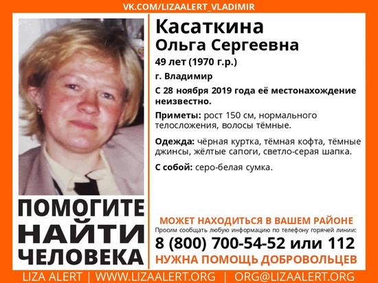 Во Владимире вторую неделю ищут 49-летнюю женщину