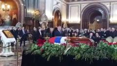 В храме Христа Спасителя началась церемония прощания с Юрием Лужковым: видео