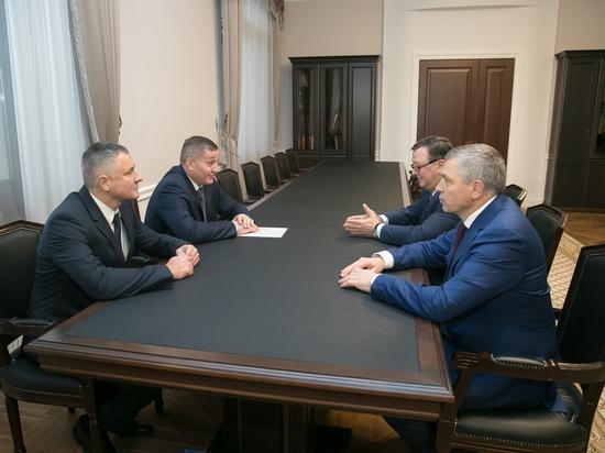 Бочаров встретился с новым главой волгоградского УФСБ
