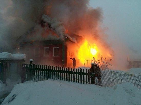 В Межевском районе «средь бела дня» сгорел частный дом